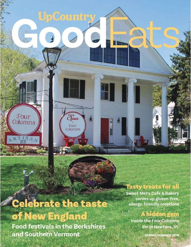 Good Eats Magazine Covering Featuring Four Columns Inn and Restaurant